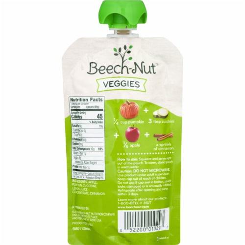 Beech-Nut Veggies Pumpkin Zucchini & Apple Stage 2 Baby Food Perspective: back