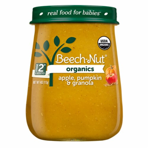 Beech-Nut Organics Apple Pumpkin & Granola Stage 2 Baby Food Perspective: back