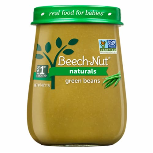 Beech-Nut Naturals Green Beans Stage 1 Baby Food Perspective: back
