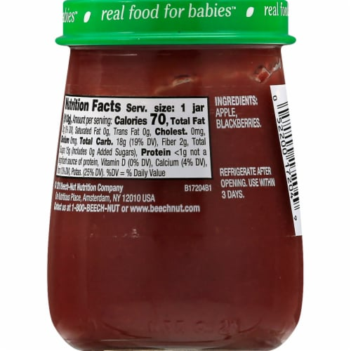 Beech-Nut Naturals Apple & Blackberry Stage 2 Baby Food Perspective: back