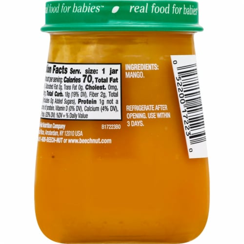 Beech-Nut Naturals Mango Stage 2 Baby Food Perspective: back