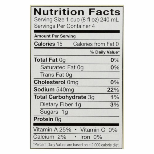 Pacific Natural Foods Vegetable Broth - Organic - Case of 6 - 8 Fl oz. Perspective: back