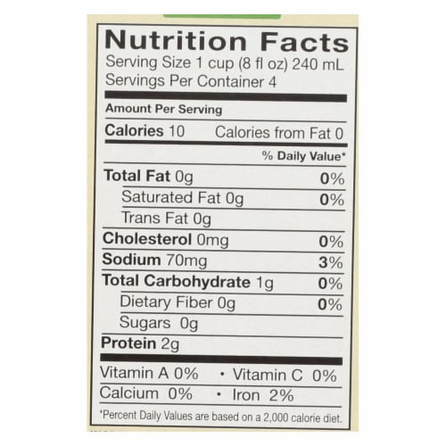 Pacific Natural Foods Free Range Chicken Broth - Low Sodium - Case of 6 - 8 Fl oz. Perspective: back