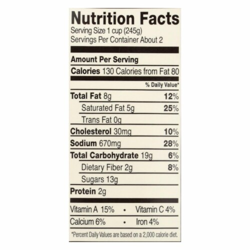 Pacific Foods Bisque Hearty Tomato Organic  - Case of 6 - 17.6 OZ Perspective: back