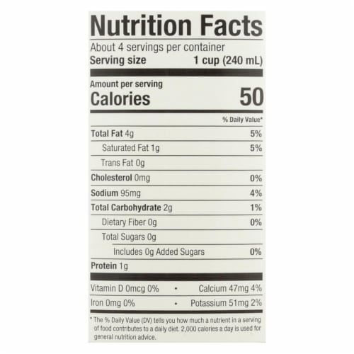 Pacific Natural Foods Cashew Beverage - Organic - Unsweetened- Case of 6 - 32 fl oz Perspective: back