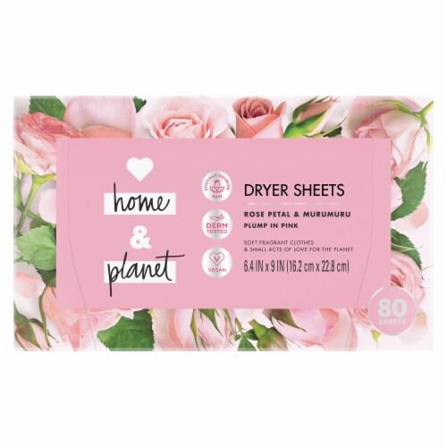 Love Home & Planet Rose Petal & Murumuru Dryer Sheets Perspective: back