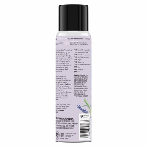 Love Home & Planet Lavender & Argan Oil Re-Wear Dry Wash Spray Perspective: back