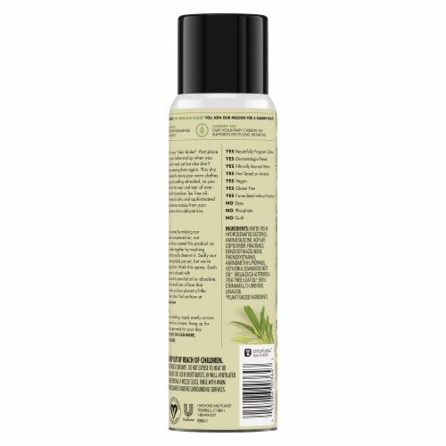 Love Home & Planet Vetiver & Tea Tree Oil Dry Wash Spray Perspective: back