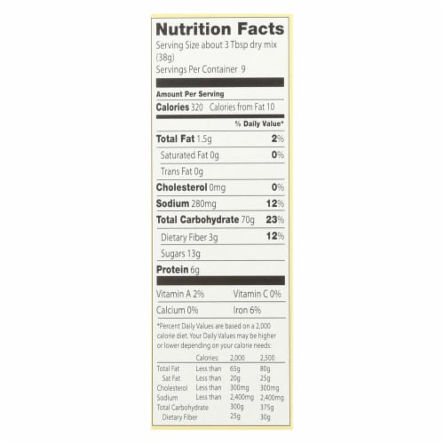 European Gourmet Bakery - Muffin Mix Cornmeal - Case of 6-16 OZ Perspective: back