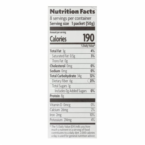 Nature's Path Organic Hot Oatmeal - Original - Case of 6 - 14 oz. Perspective: back