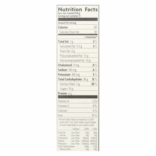 Nature's Path Organic Flax Plus Hot Oatmeal (6 Pack) Perspective: back