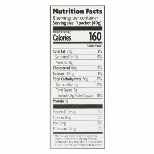 Nature's Path Organic Optimum Power Flax Cereal - Blueberry Cinnamon - Case of 6 - 11.2 oz. Perspective: back
