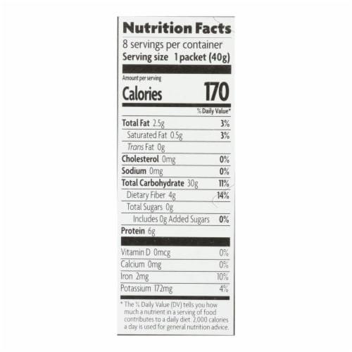 Nature's Path Organic Hot Oatmeal - Homestyle - Case of 6 - 11.3 oz. Perspective: back