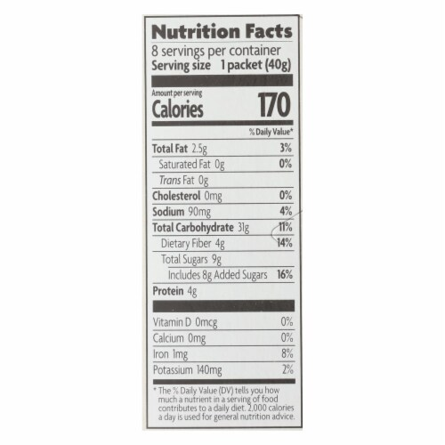 Nature's Path Organic Hot Oatmeal - Spiced Apple with Flax - Case of 6 - 11.3 oz. Perspective: back