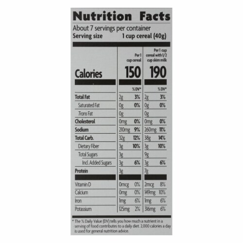 Nature's Path Organic Whole Grain Crispy Rice Cereal - Case of 12 - 10 oz. Perspective: back