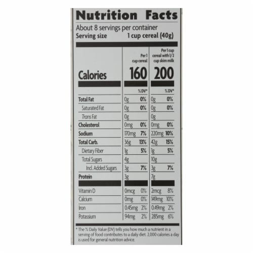 Nature's Path Organic Corn Flakes Cereal - Fruit Juice Sweetened - Case of 12 - 10.6 oz. Perspective: back