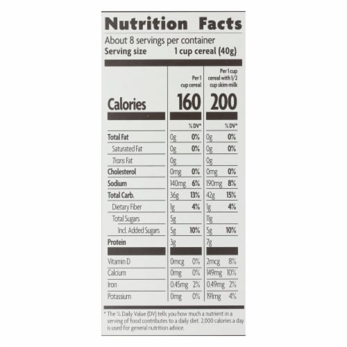 Nature's Path Organic Corn Flakes Cereal -Honey'D - 10.6 oz Perspective: back
