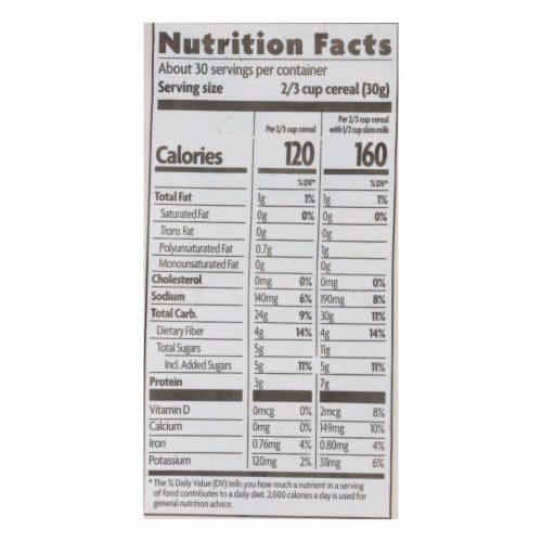 Nature's Path Organic Flax Plus Cereal - Cinnamon - Case of 6 - 32 oz. Perspective: back