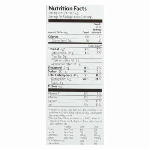 Nature's Path Organic Heritage Crunch Cereal - Case of 12 - 14 oz. Perspective: back