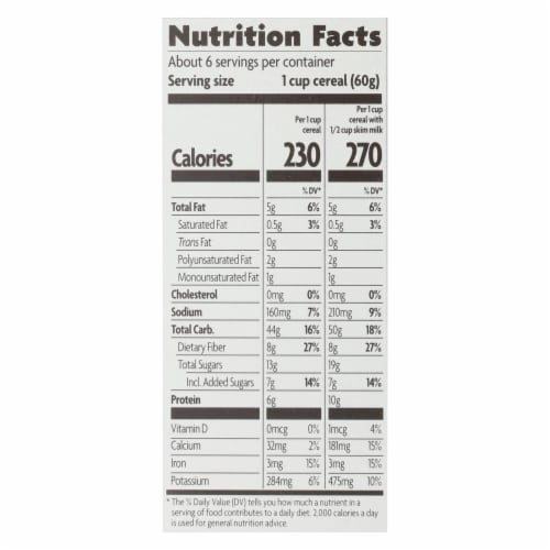 Nature's Path Organic Flax Plus Cereal - Pumpkin Raisin Crunch - Case of 12 - 12.35 oz. Perspective: back