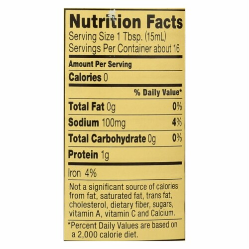 Reese Clam Juice Bottle - Case of 6 - 8 Fl oz. Perspective: back