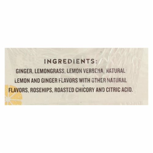 Celestial Seasonings Herbal Tea - Jammin' Lemon Ginger - Caffeine Free - Case of 6 - 20 Bags Perspective: back