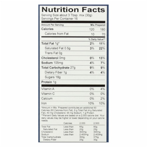 King Arthur Brownie Mix - Case of 6 - 17 oz. Perspective: back