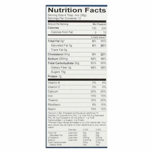 King Arthur Muffin Mix - Case of 6 - 16 oz. Perspective: back