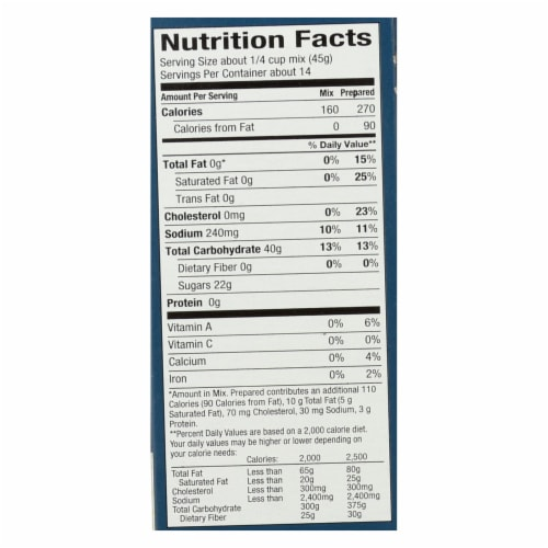King Arthur Yellow Cake Mix - Case of 6 - 22 oz. Perspective: back