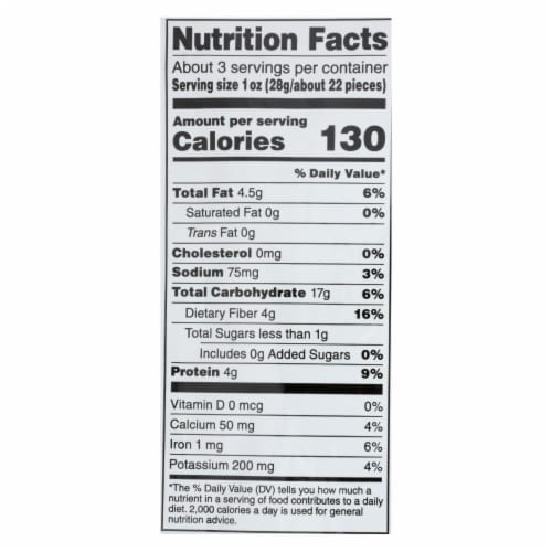 Harvest Snaps Cracked & Spicy Black Pepper Green Pea Snack Crisps - Case of 12 - 3.3 oz Perspective: back