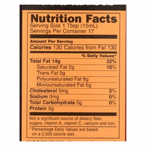 International Collection Sesame Oil - Toasted - Case of 6 - 8.45 Fl oz. Perspective: back