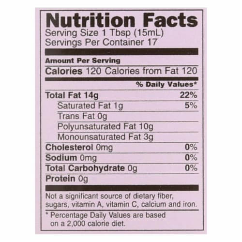 International Collection Grapeseed Oil - Case of 6 - 8.45 Fl oz. Perspective: back