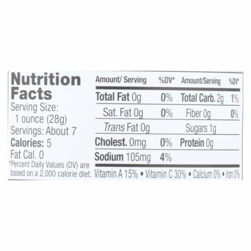 Jeff's Natural - Bell Pepper Strips - Case of 6 - 12 oz. Perspective: back