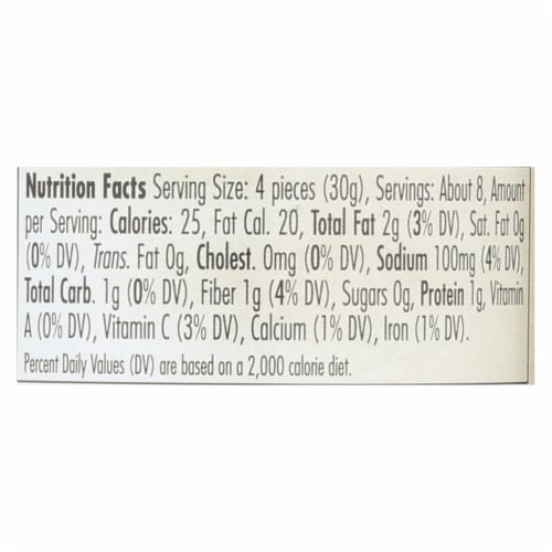 Jeff's Natural Artichoke Hearts - Marinated - Case of 6 - 14.5 oz Perspective: back