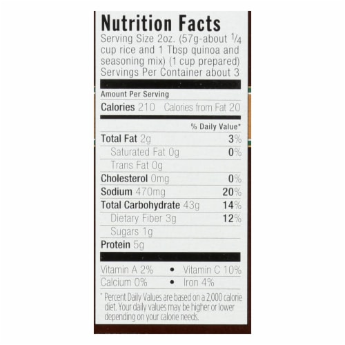 Lundberg Family Farms Organic Quinoa and Rice - Rosemary Blend - Case of 6 - 6 oz. Perspective: back