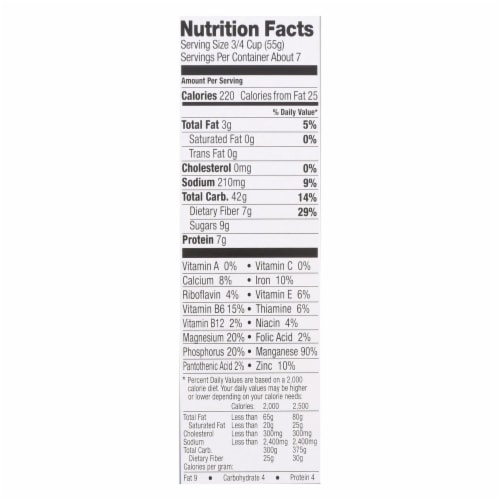 Food For Life Ezekiel 4:9 Sprouted Flourless Flake Cereal  - Case of 6 - 14 OZ Perspective: back