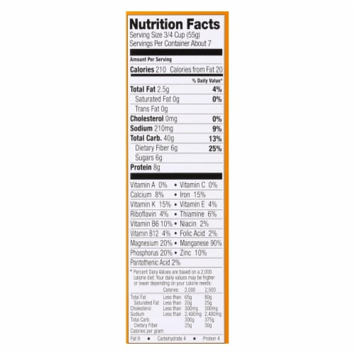 Food For Life Almond Flake Cereal  - Case of 6 - 14 OZ Perspective: back