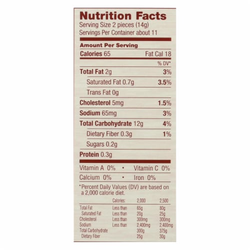 Absolutely Gluten Free - Flatbread - Original - Case of 12 - 5.29 oz. Perspective: back