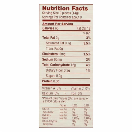 Absolutely Gluten Free - Crackers - Original - Case of 12 - 4.4 oz. Perspective: back