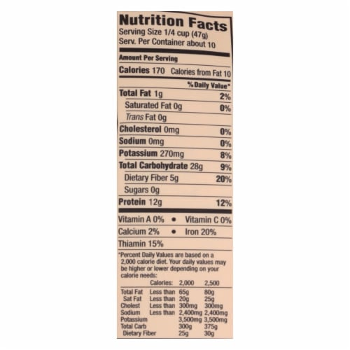 Arrowhead Mills - Organic Red Lentils - Case of 6 - 16 oz. Perspective: back