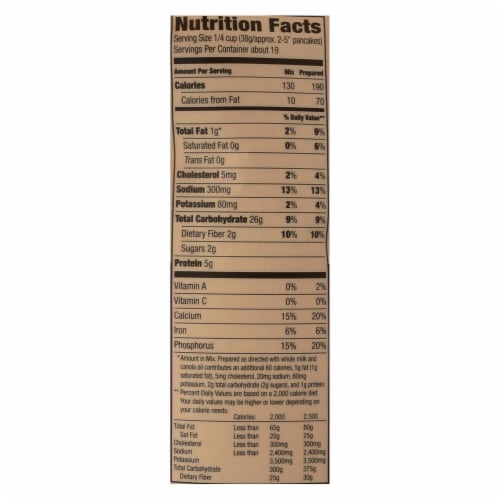 Arrowhead Mills - Pancake and Waffle Mix - Natural Multigrain - Case of 6 - 26 oz. Perspective: back