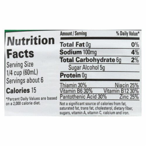 Vermont Low Calorie Syrup - Case of 6 - 12 FZ Perspective: back