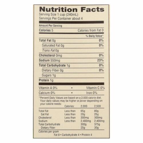 Emeril Organic Chicken Stock - Case of 6 - 32 Fl oz. Perspective: back