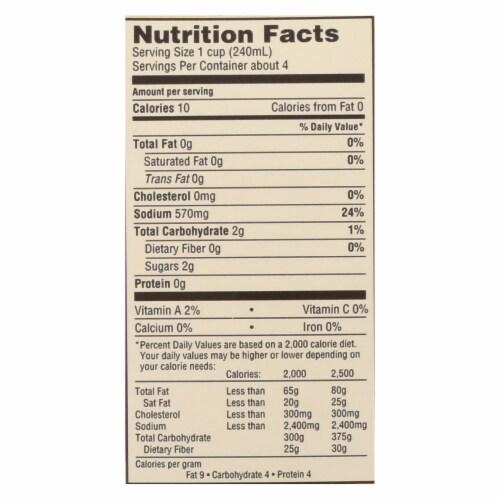 Emeril Organic Vegetable Stock - Case of 6 - 32 Fl oz. Perspective: back