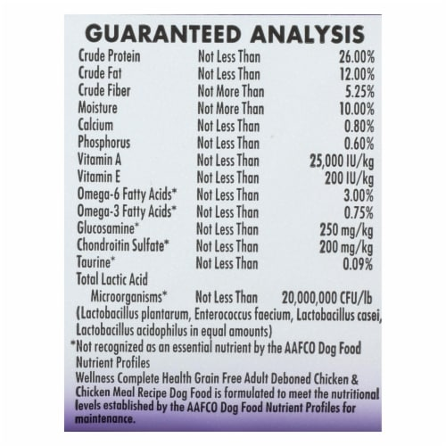 Wellness Pet Products Dog Food - Grain Free - Chicken Recipe - Case of 6 - 4 lb. Perspective: back