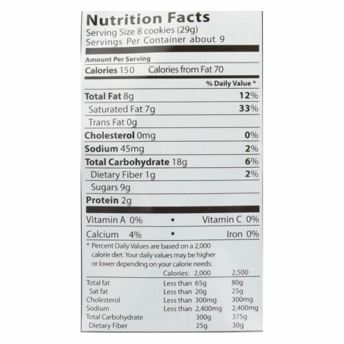 Loacker Vanilla Bite Size Wafer Cookies, 8.82 OZ (Pack of 8) Perspective: back