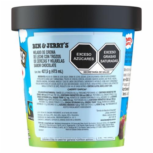 Ben & Jerry's Cherry Garcia Ice Cream Pint Perspective: back