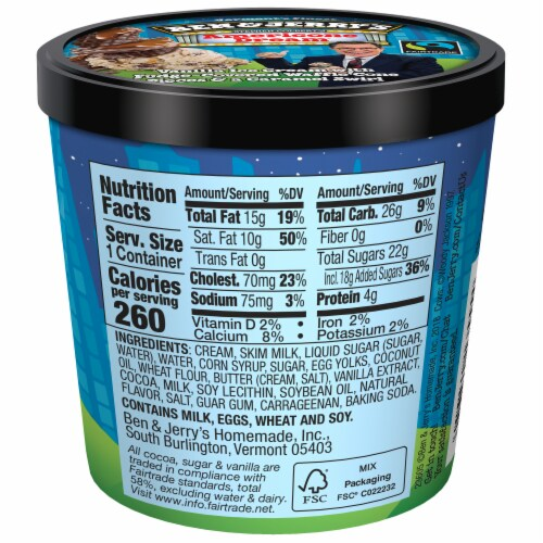 Ben & Jerry's Americone Dream Ice Cream Cups Perspective: back