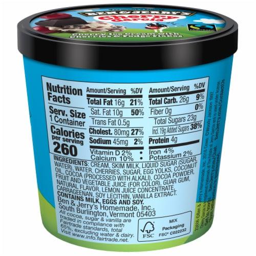 Ben & Jerry's Cherry Garcia Ice Cream Cups Perspective: back