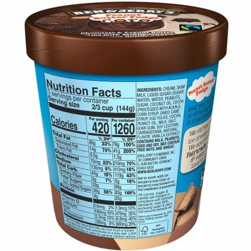 Ben & Jerry's Peanut Butter Fudge CORE Ice Cream Perspective: back